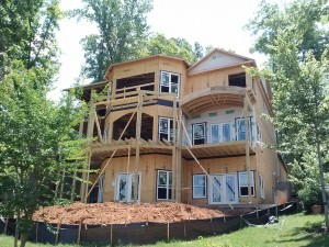 partially rebuilt custom home